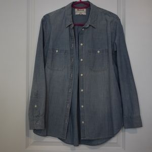 Madewell Classic Chambray Button Down, M, NWOT